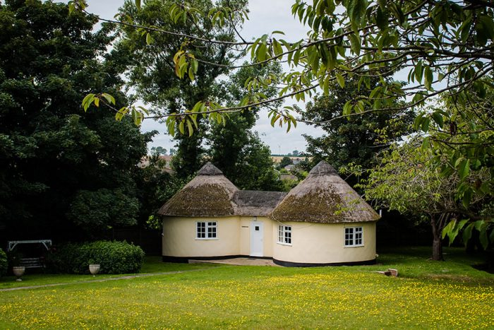 Double roundhouse exterior