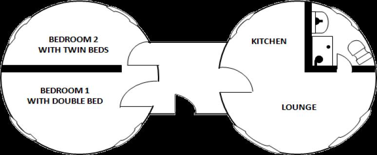 Double roundhouse floorplan