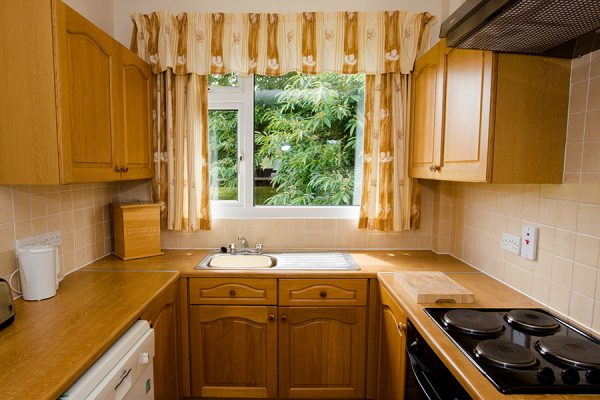 Four berth bungalow kitchen