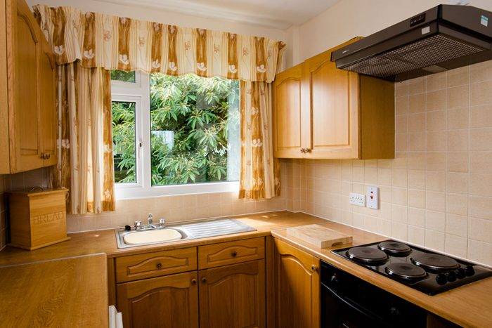 Four berth bungalow kitchen