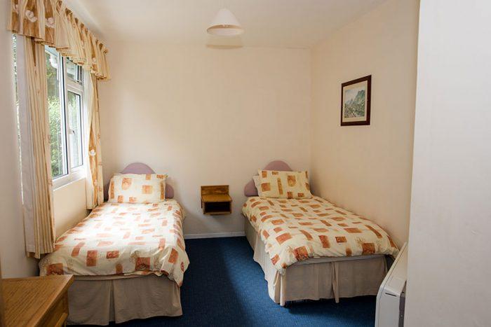 Four berth bungalow twin bedroom