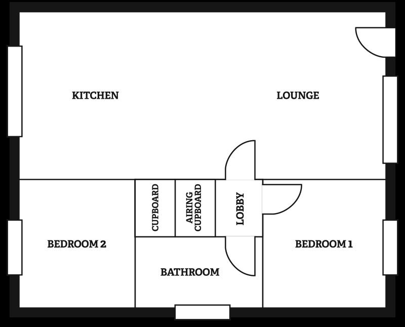 Lighthouse chalet floorplan