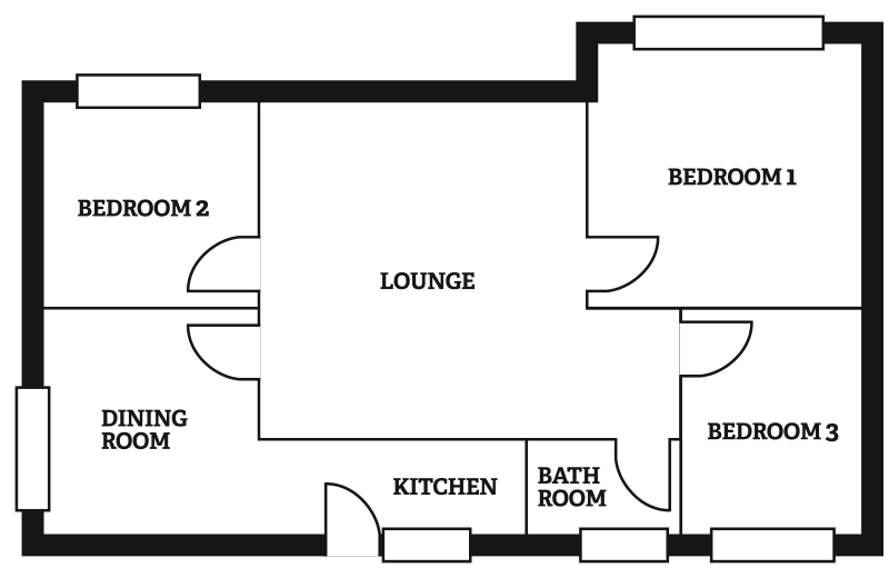 Six berth bungalow floorplan